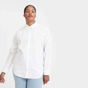Everlane Relaxed Poplin Shirt in white